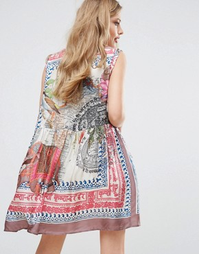 photo Map Print Smock Dress by Replay, color Multi - Image 2