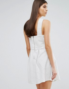 photo Rosalie Stripe Skater Dress by d.RA, color Clubhouse Stripe - Image 2