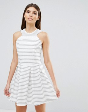photo Rosalie Stripe Skater Dress by d.RA, color Clubhouse Stripe - Image 1