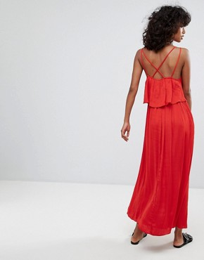 photo Brigette Maxi Dress by d.RA, color Scarlet - Image 2