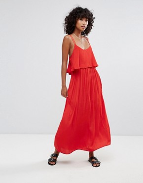 photo Brigette Maxi Dress by d.RA, color Scarlet - Image 1