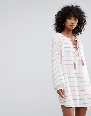 photo Montecito Tunic Dress by d.RA, color Turkish Stripe - Image 1