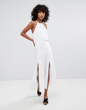 photo Marceline Maxi Dress by d.RA, color Chalkl White - Image 1