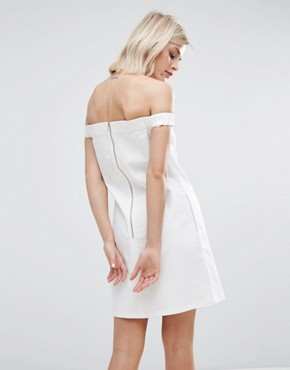 photo Embroidered Cotton Drill Dress by House of Holland, color White - Image 2