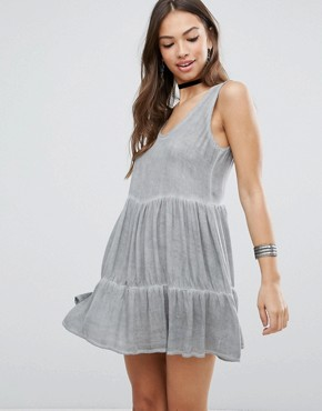 photo Gathered Skirt Dress by NYTT, color Grey - Image 2