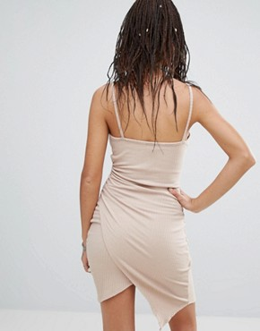 photo Wrap Skirt Bodycon Dress by NYTT, color Desert Sand - Image 2