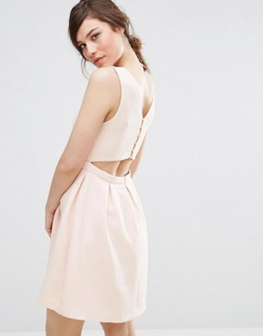 photo Back Detail Dress by Suncoo, color Nude - Image 1
