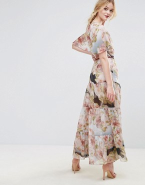 photo Floral Belted Maxi Dress by Traffic People, color Multi - Image 2