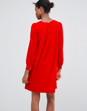 photo Long Sleeve Shift Dress by Traffic People, color Red - Image 2