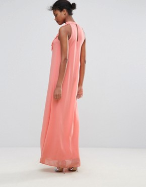 photo Maxi Dress with Ruffle Detail by Traffic People, color Pink - Image 2