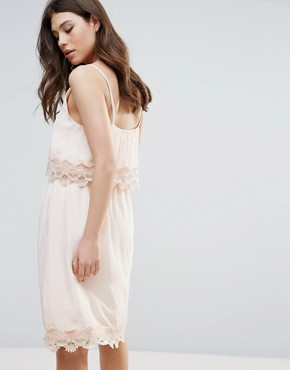 photo Summer Dress with Lace Insert by b.Young, color Pale Blush - Image 2