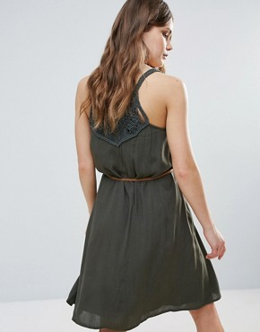 photo Summer Dress with Belt Detail by b.Young, color Tropic Green - Image 2