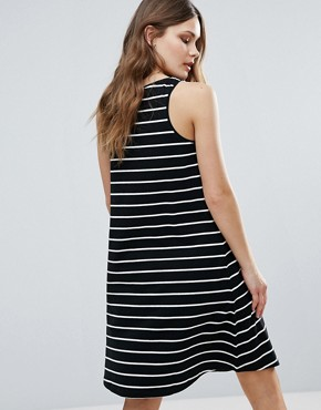 photo Striped Skater Dress by b.Young, color Multi - Image 2