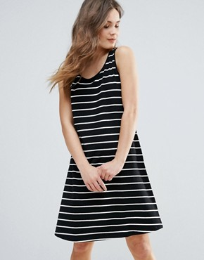 photo Striped Skater Dress by b.Young, color Multi - Image 1
