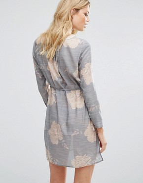 photo Floral Shirt Dress by Vero Moda Tall, color Ombre Blue - Image 2