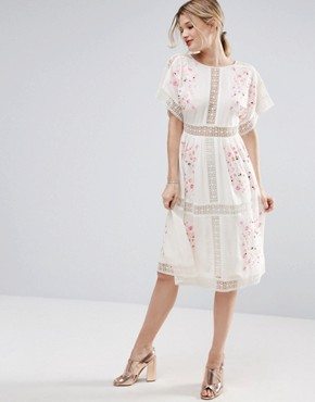 photo Embroidered Midi Dress by ASOS PREMIUM, color Multi - Image 1