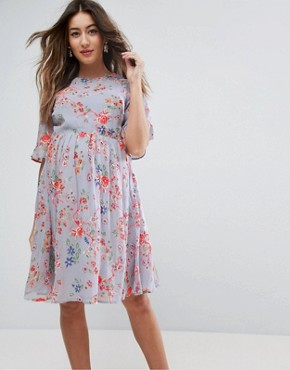 photo Pretty Skater Dress with Embroidery by ASOS Maternity PREMIUM, color Multi - Image 2