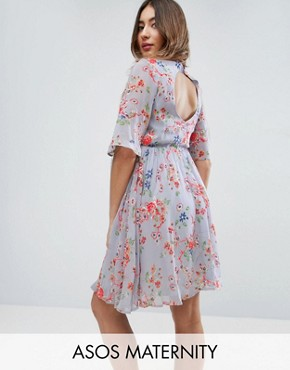 photo Pretty Skater Dress with Embroidery by ASOS Maternity PREMIUM, color Multi - Image 1