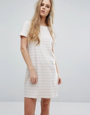 photo Scoop Neck Striped Dress by Vila, color Multi - Image 1