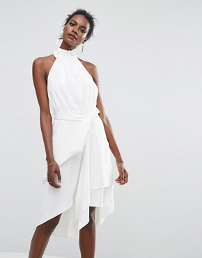 photo Out Of Line Dress by C/meo Collective, color Ivory - Image 1