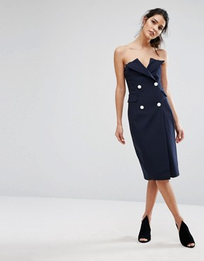 photo Point Blank Dress by Asilio, color Midnight Navy - Image 4
