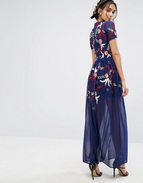 photo Sequin Maxi Dress by Frock and Frill, color Blue - Image 2