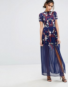 photo Sequin Maxi Dress by Frock and Frill, color Blue - Image 1