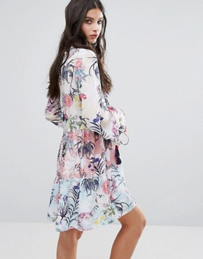 photo All Over Multi Floral Print Smock Dress by White Cove Petite, color Multi - Image 2