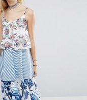 photo Allover Printed Layered Cami Strap Swing Dress by White Cove Tall, color Multi - Image 3