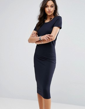photo Abbie Midi Jersey Dress by Only, color Black/Navy - Image 1