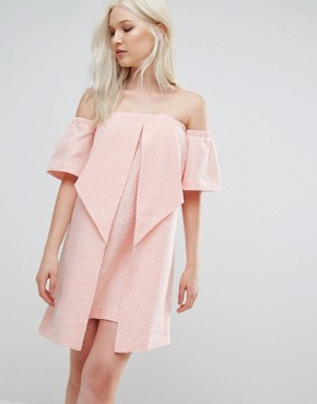 photo Valley Origami Dress by N12H, color Peach - Image 1