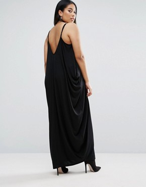 photo Drape Hareem Maxi Dress by ASOS CURVE, color Black - Image 2