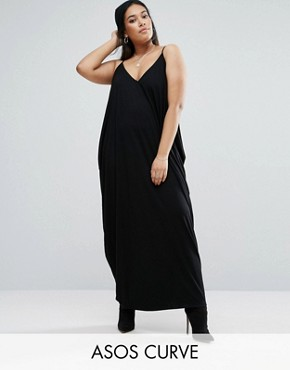 photo Drape Hareem Maxi Dress by ASOS CURVE, color Black - Image 1
