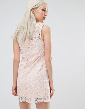 photo Lace Poppy Shift Dress by Foxiedox, color Pink - Image 2