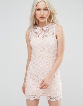 photo Lace Poppy Shift Dress by Foxiedox, color Pink - Image 1