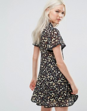 photo Willow Skater Dress with Choker Detail by Foxiedox, color Multi - Image 2