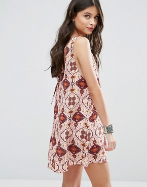 photo Patchwork Print Dress by Glamorous Petite, color Multi - Image 2