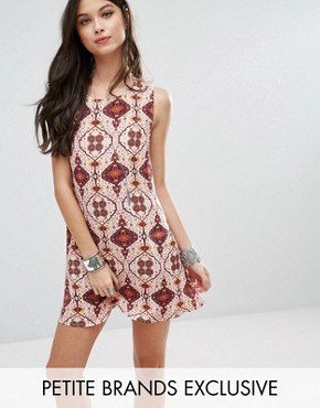 photo Patchwork Print Dress by Glamorous Petite, color Multi - Image 1