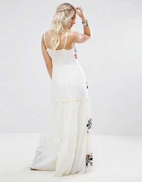 photo Floral Embroidered Cami Maxi Dress by Glamorous Petite, color Multi - Image 2