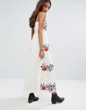 photo Floral Embroidered Cami Midi Dress by Glamorous Tall, color Multi - Image 2
