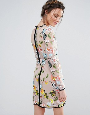 photo Embroidered Long Sleeve Dress by True Decadence Tall, color Multi - Image 2