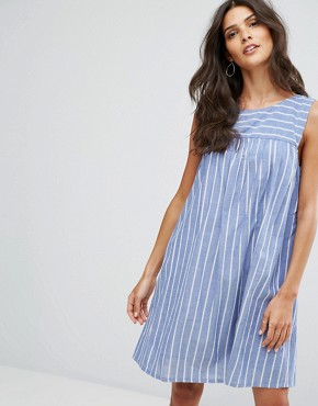 photo Cut Out Detail Stripe Smock Dress by Mango, color Multi - Image 2