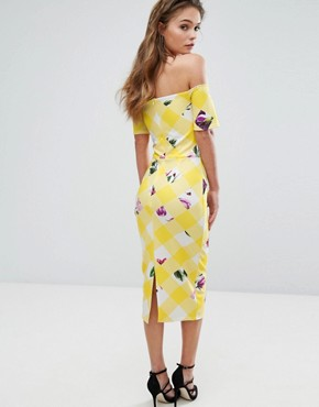 photo Bardot Midi Dress by True Violet, color Faded Floral - Image 2