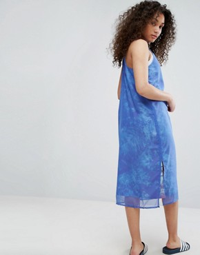 photo Ocean Printed Tank Dress with Chiffon Overlay by Adidas Originals, color Aop - Image 2