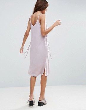 photo Midi Cami Dress with Eyelet Detail by ASOS, color Lilac - Image 2