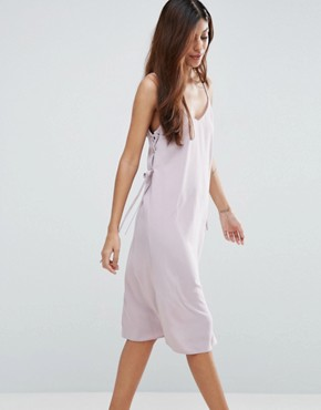 photo Midi Cami Dress with Eyelet Detail by ASOS, color Lilac - Image 1