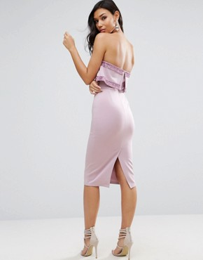 photo Embellished Crop Top Bandeau Midi Dress by ASOS, color Lilac - Image 2