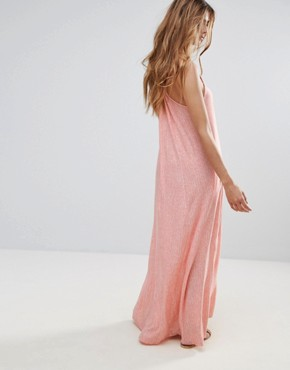 photo Pink Column Maxi Dress by Hazel, color Coral - Image 2