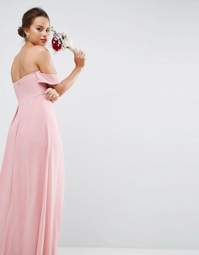 photo Bandeau Tie Front Maxi Dress by ASOS WEDDING, color Pink - Image 2