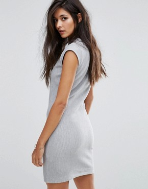 photo Debra Button Shoulder Dress by Supertrash, color Grey - Image 2